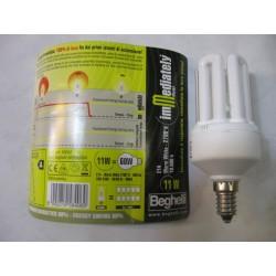 BEG50004 Lampada risparmio energetico 11W E14 luce calda