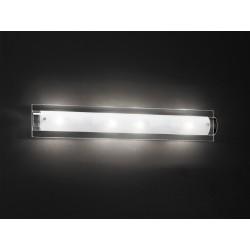 PERENZ-5480 Applique cromo lucido con vetro trasparente e bianco