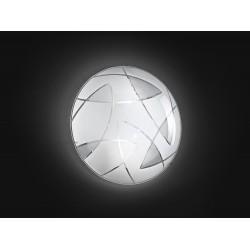 PERENZ-5942 Plafoniera metallo con vetro decorato