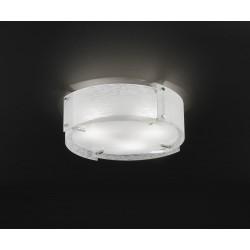 PERENZ-5993 Plafoniera cromo lucido con vetro satinato