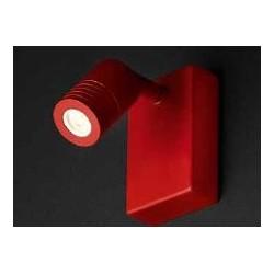 SCAMM LIGHTING KYTACH KT111.VR LED FARETTO DA PARETE CON INTERRUTTORE ORIENTABILE 310° IN ALLUMINIO COLOR ROSSO
