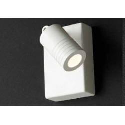 SCAMM LIGHTING KYTACH KT111.VT LED FARETTO DA PARETE CON INTERRUTTORE ORIENTABILE 310° IN ALLUMINIO COLOR TORTORA