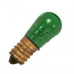 WIMEX 4500420 LAMPADA LUMINARIA AD INCANDESCENZA VERDE 14V 5W - CONF. 10 LAMPADE