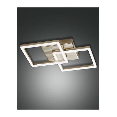 FABAS LUCE 3394-22-225 PLAFONIERA BARD LED DIM 39W 3510lm COLOR ORO OPACO L45x45 cm