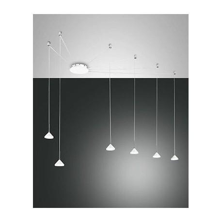 FABAS LUCE 3410-46-102 SOSPENSIONE ISABELLA LED DIMMERABILE 48W 4320lm Ømax700cm BIANCA