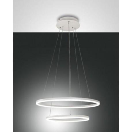FABAS LUCE 3508-45-102 | GIOTTO SOSPENSIONE LED BIANCA IN METALLO E METACRILATO 52W 4680lm DIMMERABILE WARM WHITE
