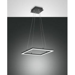 FABAS LUCE 3394-40-282 SOSPENSIONE BARD LED DIM 39W 3510lm ANTRACITE L42X42 cm