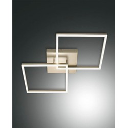 FABAS LUCE 3394-65-225 | BARD PLAFONIERA LED DIMMERABILE ORO WARM WHITE 52W 4680lm