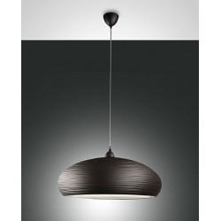 FABAS LUCE 3161-45-251 SOSPENSIONE LODGE IN METALLO COLOR MARRONE SCURO 60W D: 600mm